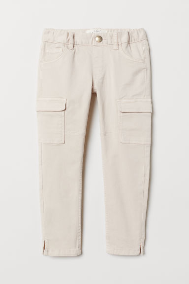 Cargo trousers - Light beige - Kids | H&M CN