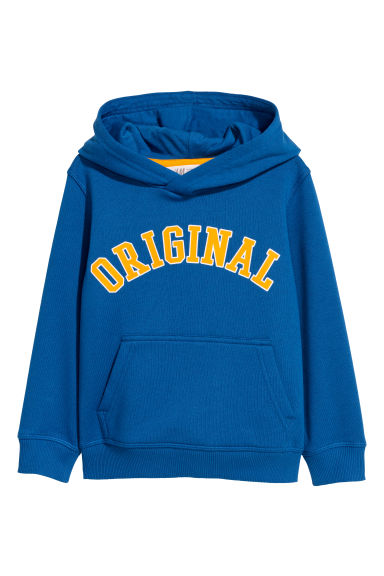 Hooded top - Bright blue/Original -  | H&M