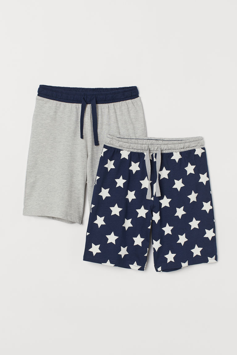 2-pack pyjama shorts - Dark blue/Stars - Kids | H&M