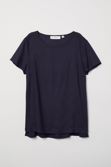 Top a maniche corte - Blu scuro - DONNA | H&M IT