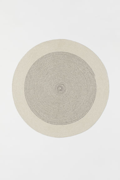 Round jute bath mat - Natural white - Home All | H&M CN