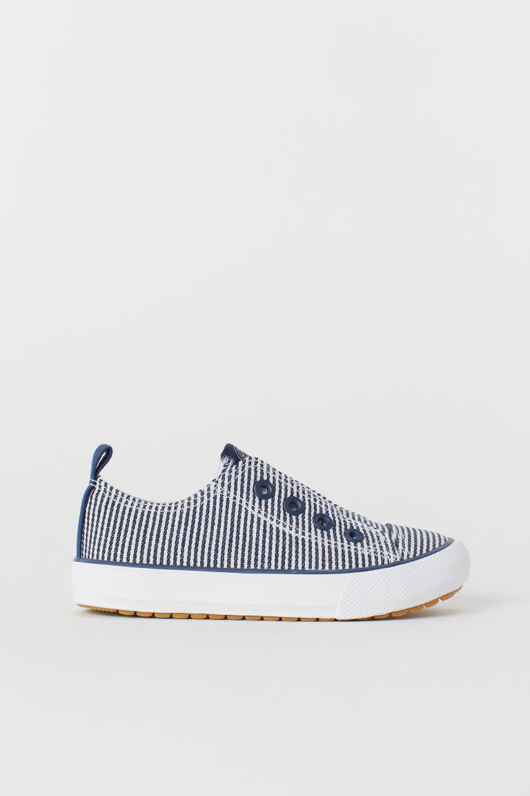 Sneakers slip-on - Blu scuro/bianco righe - BAMBINO | H&M IT
