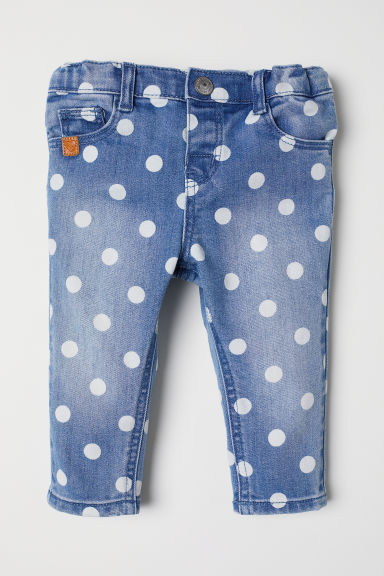Patterned jeans - Denim blue/Spotted - Kids | H&M