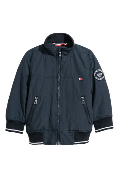 Lightly padded jacket - Dark blue - Kids | H&M CN