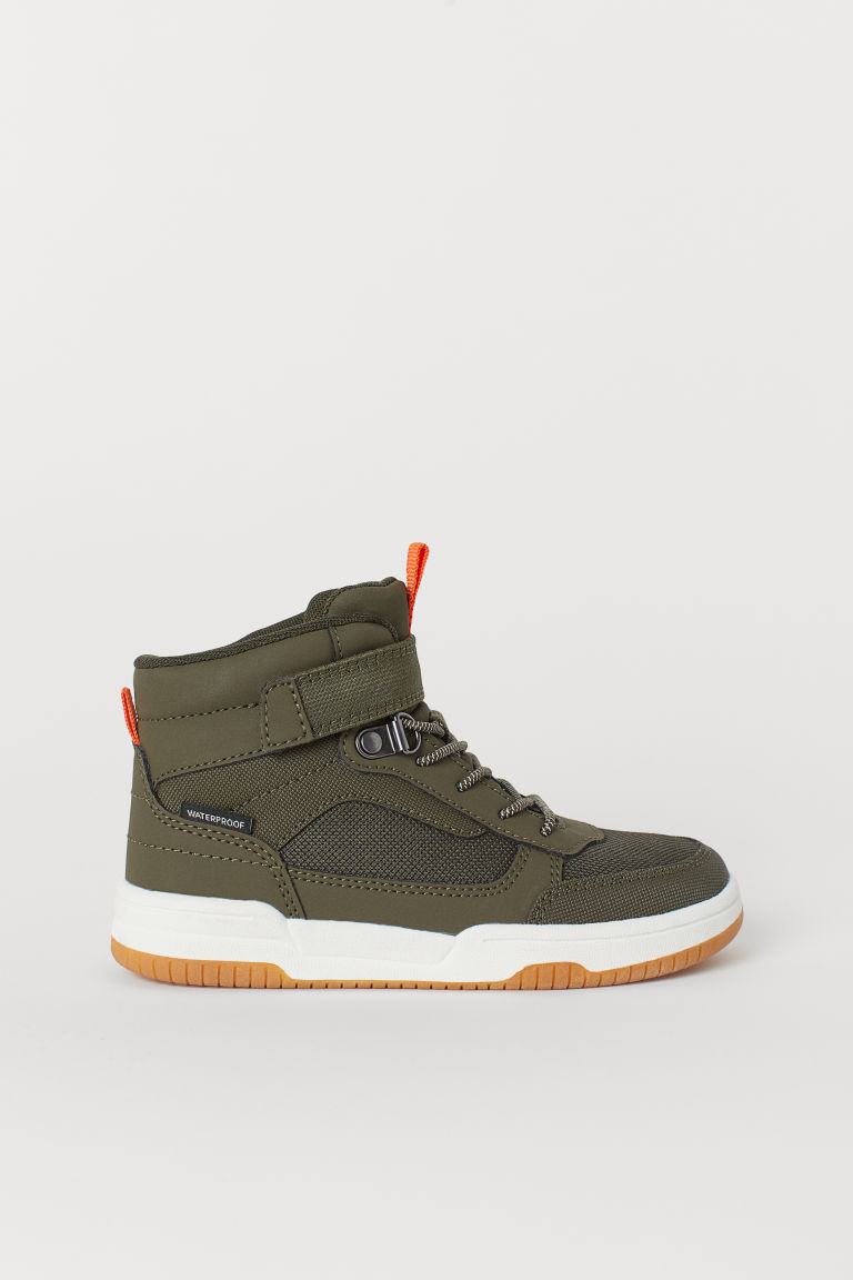 Waterproof hi-tops - Dark khaki green - Kids | H&M CN