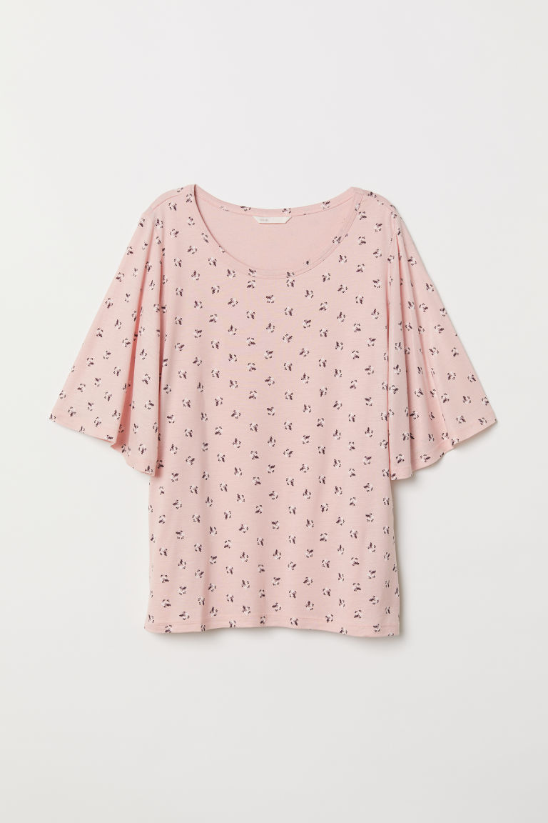 MAMA Top da allattamento - Rosa chiaro/fantasia - DONNA | H&M IT