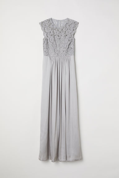 Long dress - Light grey - Ladies | H&M CN