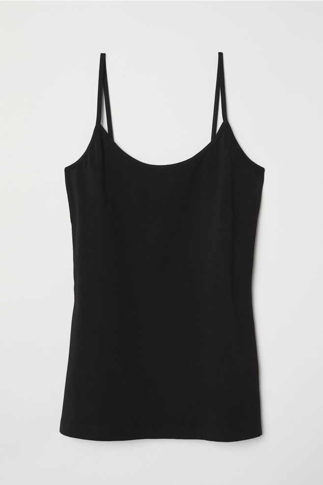 e86787dc31b1c ... Basic Camisole Top - Black - Ladies