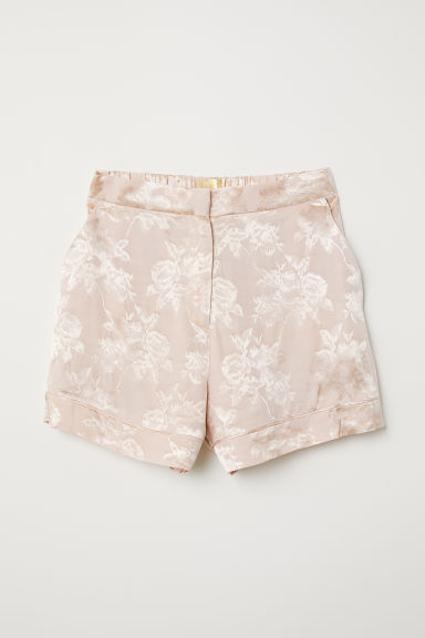 Jacquard-weave shorts - Powder pink - Ladies | H&M