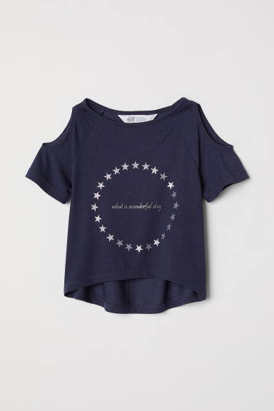 Top hombros cut-out - Azul oscuro/Wonderful -  | H&M ES