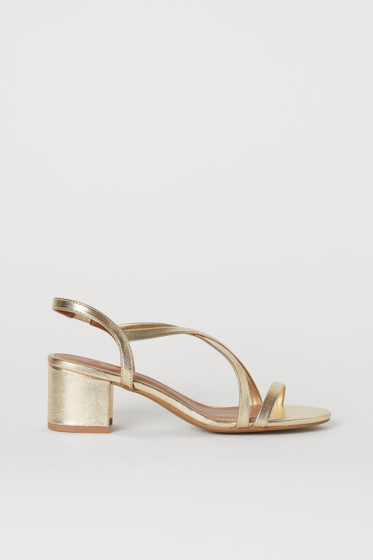 Sandals - Gold-coloured - Ladies | H&M