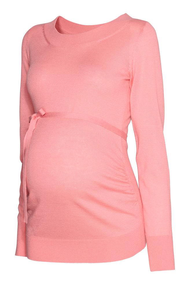 MAMA Kötött pulóver - Világos rózsaszín - NŐI  06e7b8b320