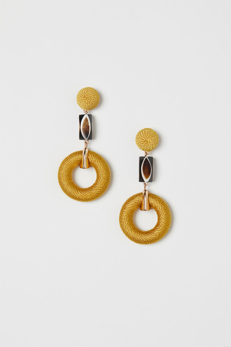 Earrings - Yellow - Ladies | H&M