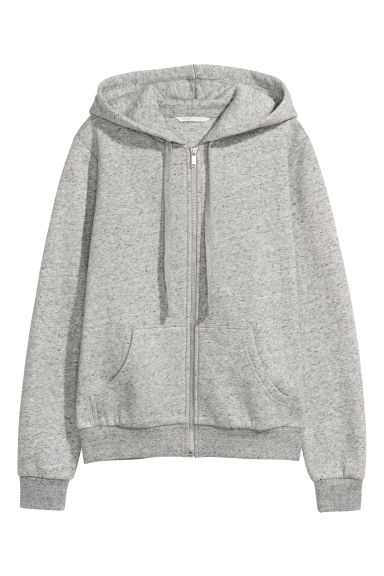 Hooded jacket - Grey marl - Ladies | H&M CN