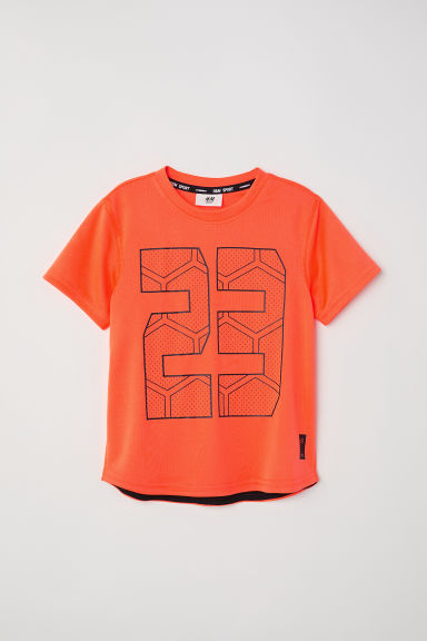 T-shirt training - Orange fluo - ENFANT | H&M CH