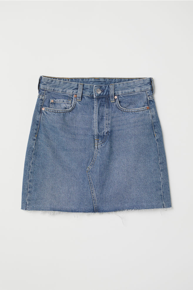 fab8eda599 Denim Skirt - Denim blue - | H&M ...