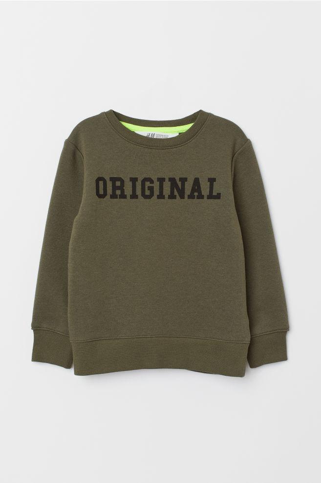 3b9a1d774f18e Sweat-shirt - Vert kaki/Original - ENFANT   H&M ...