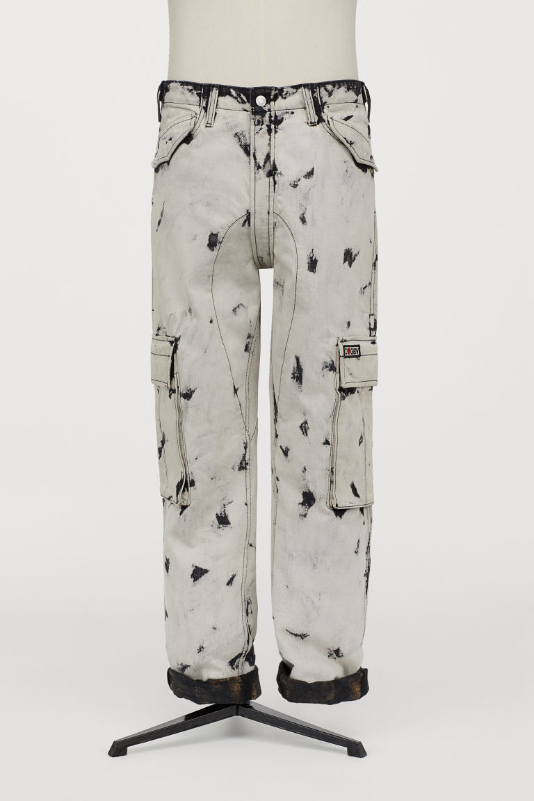 Cargo Pants - White/black - Men | H&M US