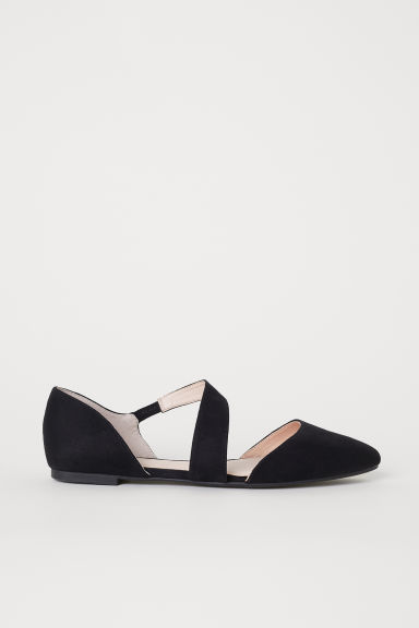 Pointed ballet pumps - Black - Ladies | H&M CN