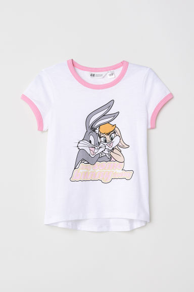 Tricot top - Wit/Looney Tunes -  | H&M NL