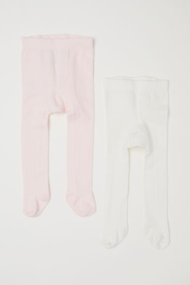 Collants, lot de 2 - Rose clair - ENFANT | H&M CH