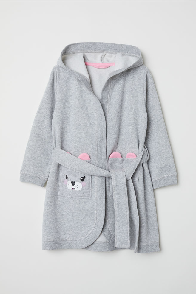 Dressing gown - Grey marl - Kids  082267699