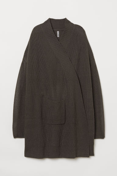 Knit Cardigan - Dark gray -  | H&M US