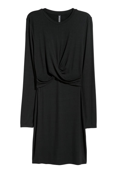 Knot-detail dress - Black -  | H&M