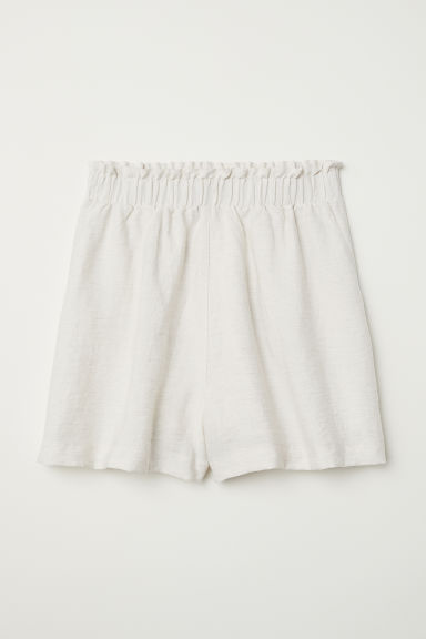Wide shorts - Light beige marl - Ladies | H&M