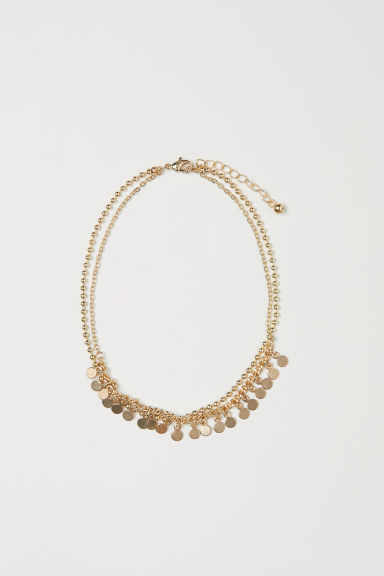 Two-strand anklet - Gold-coloured -  | H&M CN