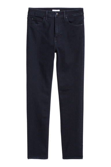 Stretch trousers High waist - Dark blue - Ladies | H&M
