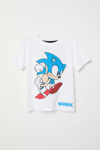 Printed T-shirt - White/Sonic - Kids | H&M CN