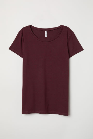 T-shirt - Bordeaux mélange - DONNA | H&M IT