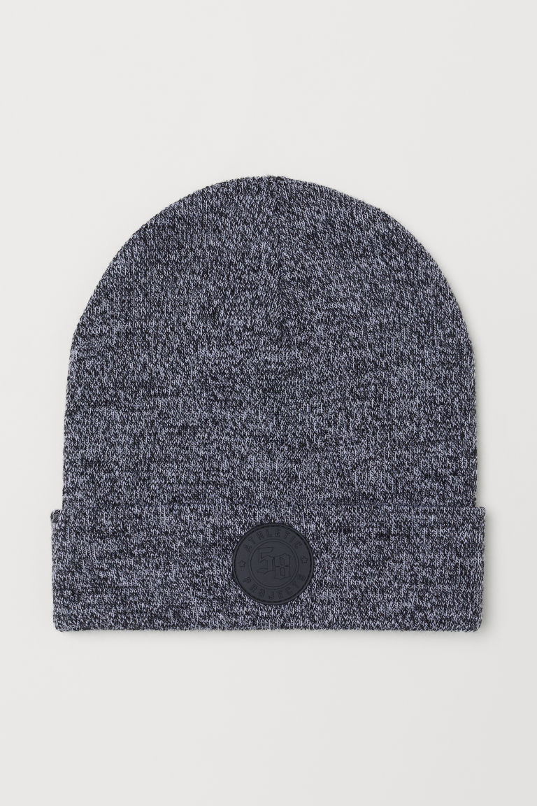 Knitted hat - Black marl - Kids | H&M