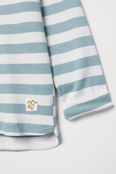 Jersey top - Light turquoise/White - Kids | H&M CN