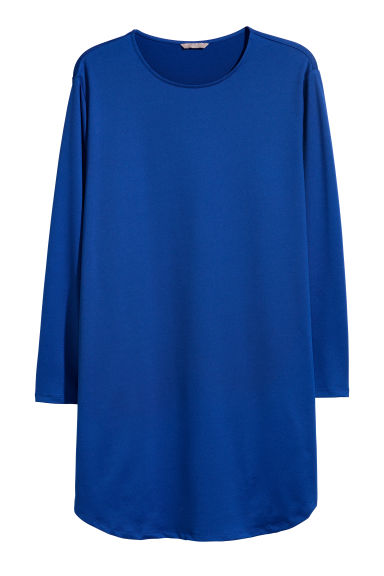 H&M+ Jersey tunic - Blue - Ladies | H&M CN