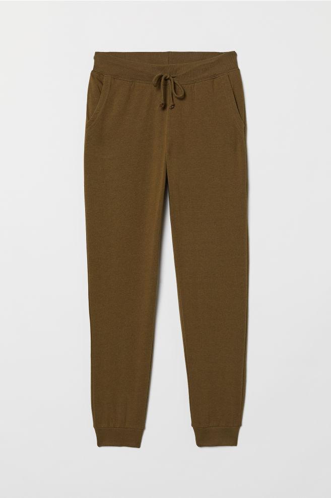 aebb9976423d72 Sweatpants - Khaki green - | H&M ...