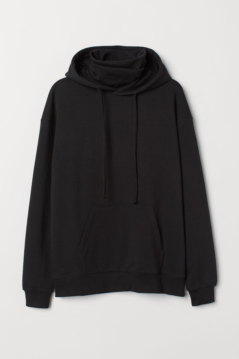 Felpa cappuccio e collo alto - Nero -  | H&M IT