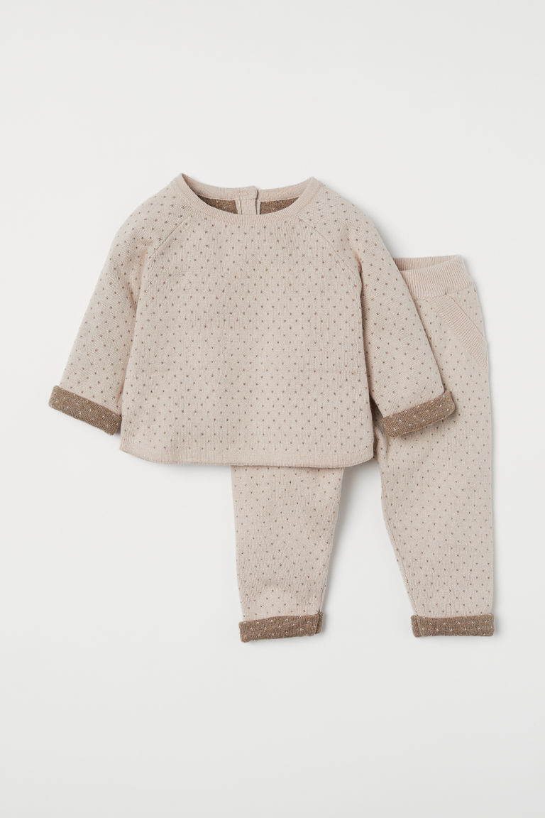 Jumper and trousers - Light beige - Kids | H&M CN