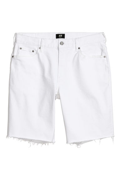Denim shorts Slim Fit - White -  | H&M
