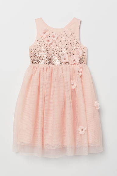 Dress with sequins - Pink - Kids | H&M CN