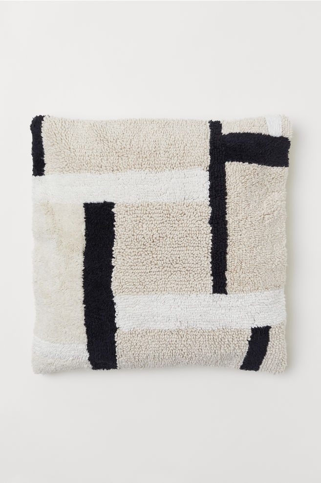 Cushion cover - Beige/Patterned - Home All | H&M GB 1