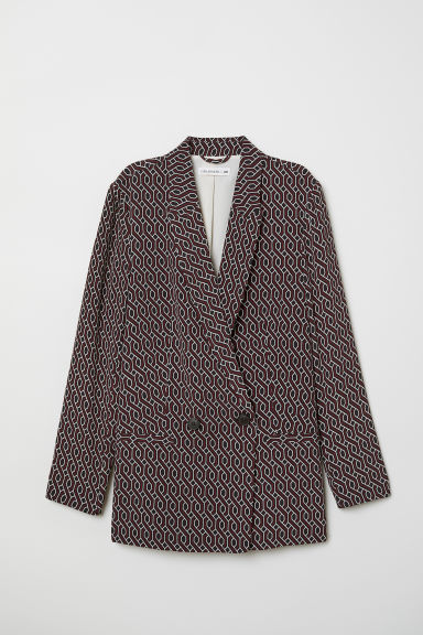 Patterned Jacket - Black/patterned - Ladies | H&M US