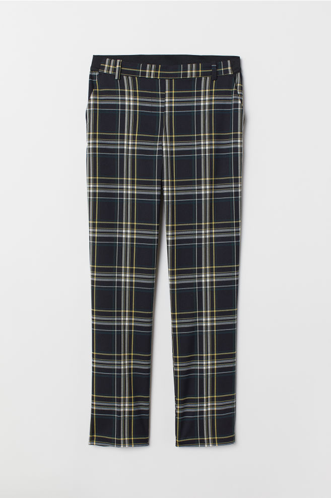 30653b010 Pull-on Slacks - Black/plaid - Ladies | H&M ...