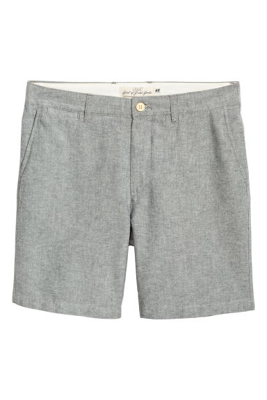 Pantaloni chino scurți - Gri-deschis/chambray -  | H&M RO