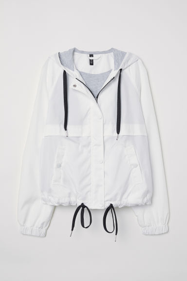 Hooded jacket - White -  | H&M