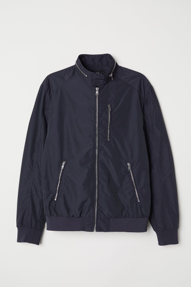 Nylon-blend bomber jacket - Dark blue - Men | H&M