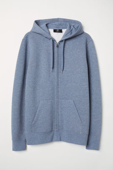 Hooded jacket Regular Fit - Blue marl - Men | H&M