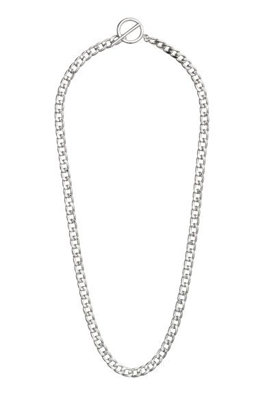 Metal necklace - Silver-coloured - Men | H&M