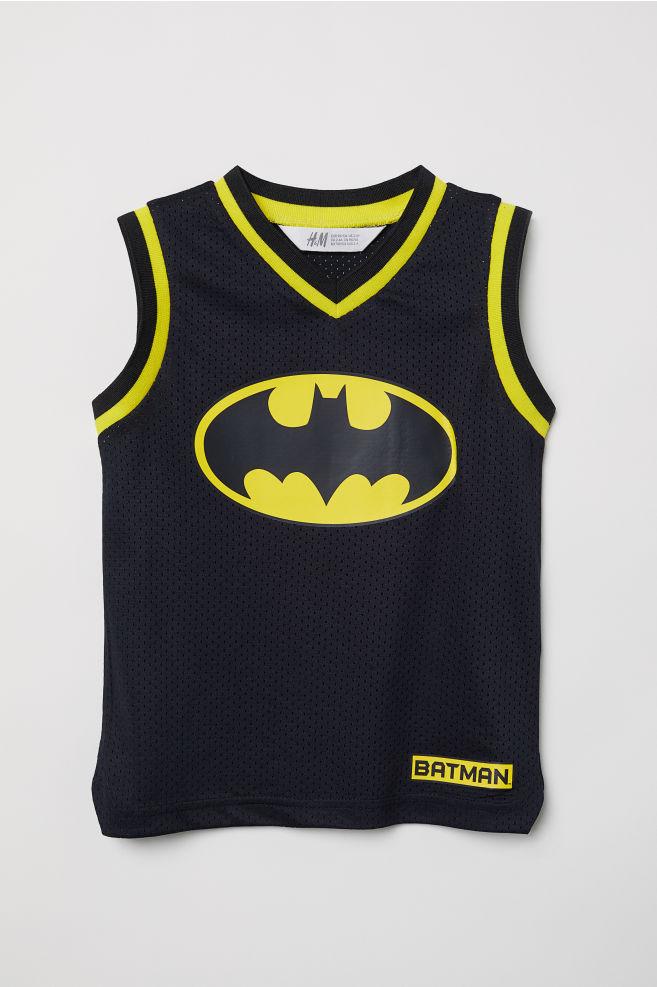 bfd7ab4b1 Basketball Jersey - Black/Batman - Kids | H&M ...